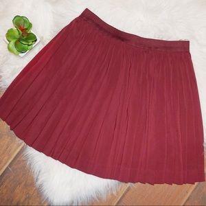 Burgundy Flared Skirt!